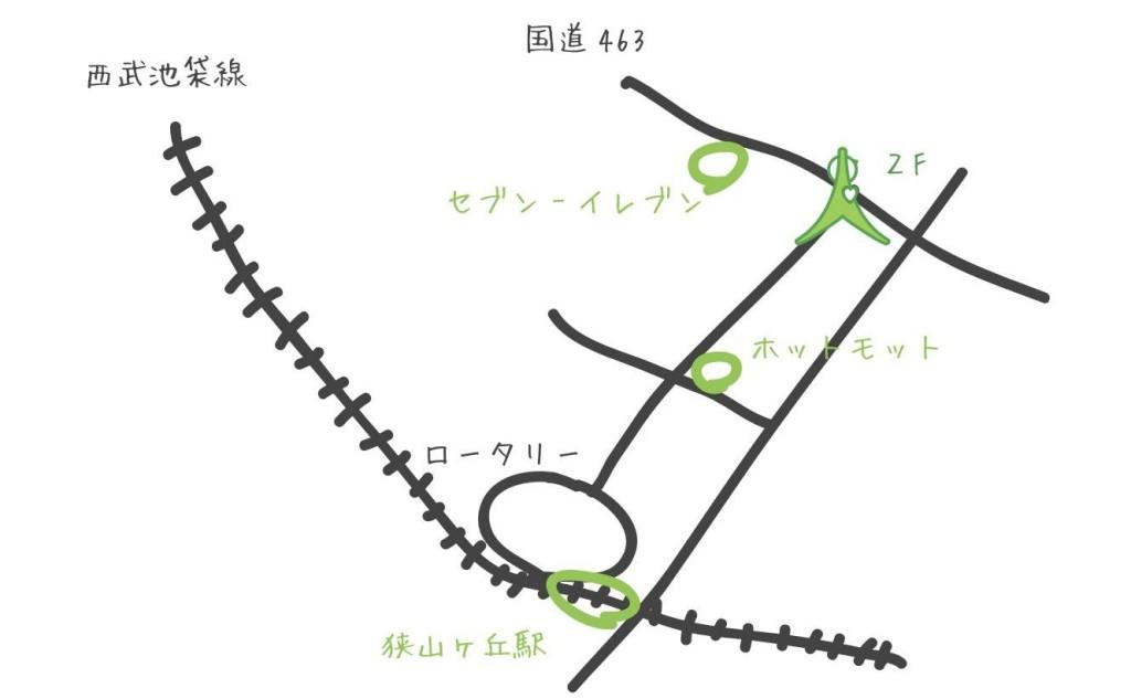 狭山ヶ丘スタジオマップ